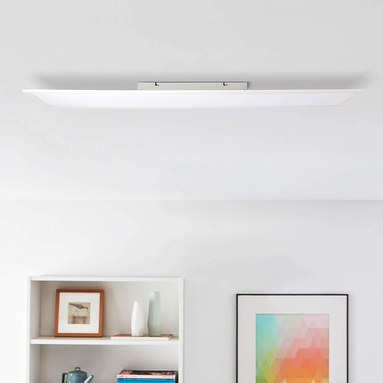 Led Panel Ceiling Light 120 X 30 Cm White 40 Watt 5200 Lumen 4000 Kelvin Metal Plastic White Cold White Beleuchtung