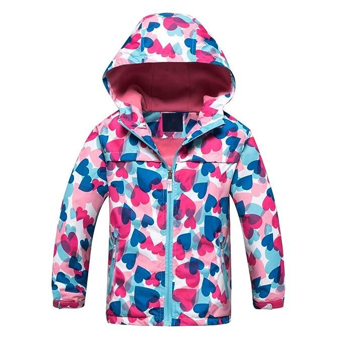 Amazon.com: Star Flower - Chubasquero con capucha para niña ...