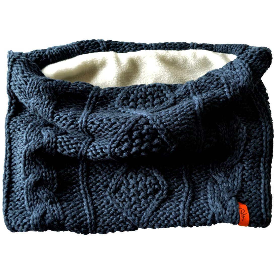 Patrick Francis Kids Chunky Knitted Style Snood with Fleece Insert, Navy Colour