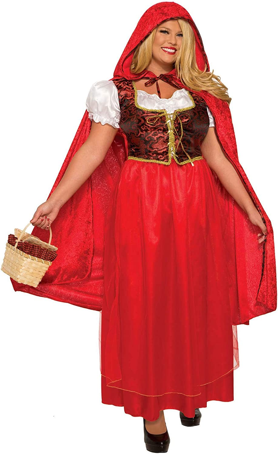 Forum Women's Red Riding Hood Costume, As Shown, Plus Size