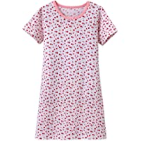 ABClothing Girls Cotton Cherry camisón Rosado 2-12 años de Edad