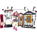 Monster High CHW68 - Lo Show dell'Orrore, Set da gioco, incl. Rochelle Goyle e l'Arena dei Mostri [lingua inglese]