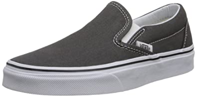 vans slip on black and grey