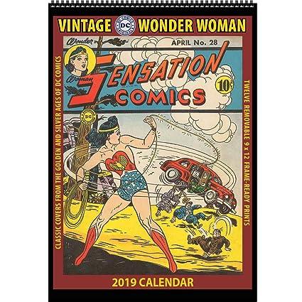 Amazoncom Vintage Wonder Woman 2019 Calendar Classic Dc Comics
