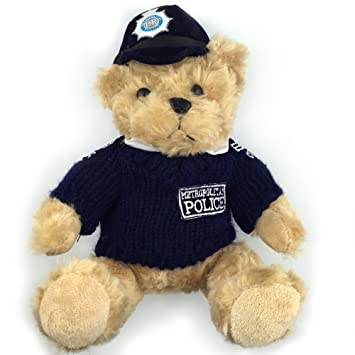 27d17bcee84 Amazon.com  20CM Blue Clothes Police Bear Toys Teddy Bear Dolls Stuffed  Plush Toys Lovely Gifts For Children Girls NT060  Baby