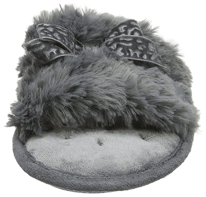 87220263ad7d Isotoner Women s Fluffy Slider Slippers Open Back  Amazon.co.uk  Shoes    Bags