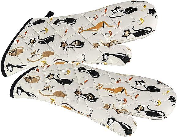 R/ésistant /à Chaleur pour Cuisiner avec Motif Chats /Él/égants Accessoire Cuisine Cadeau Femme Amoureux des Chat SPOTTED DOG GIFT COMPANY Gants de Four Maniques Cuisine
