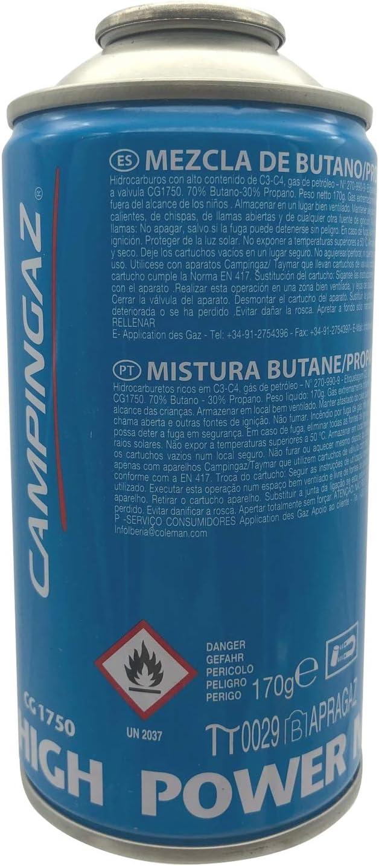 Campingaz High Power Mix CG 1750 Gas cartucho 175 gr.: Amazon ...