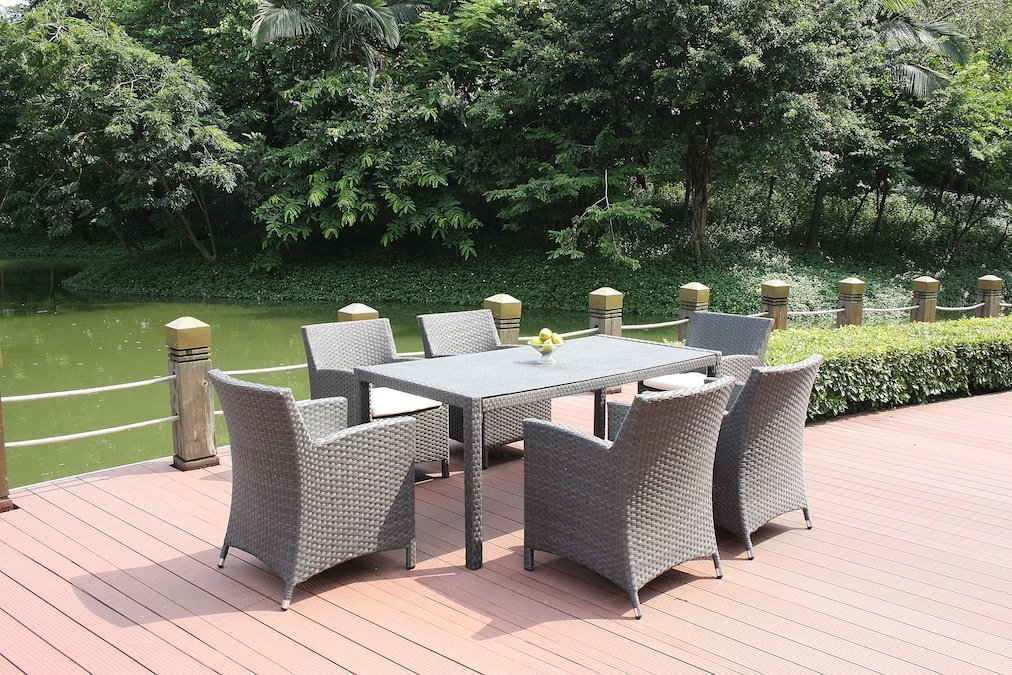 talfa polyrattan gartenm bel essgruppe meetos 6 granitglas. Black Bedroom Furniture Sets. Home Design Ideas
