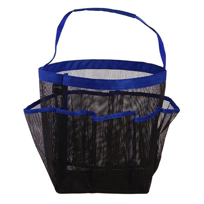Gran Capacidad Fitness Bolsa de cosm/éticos de Malla port/átil para Ducha Color Azul Cielo Sungpunet