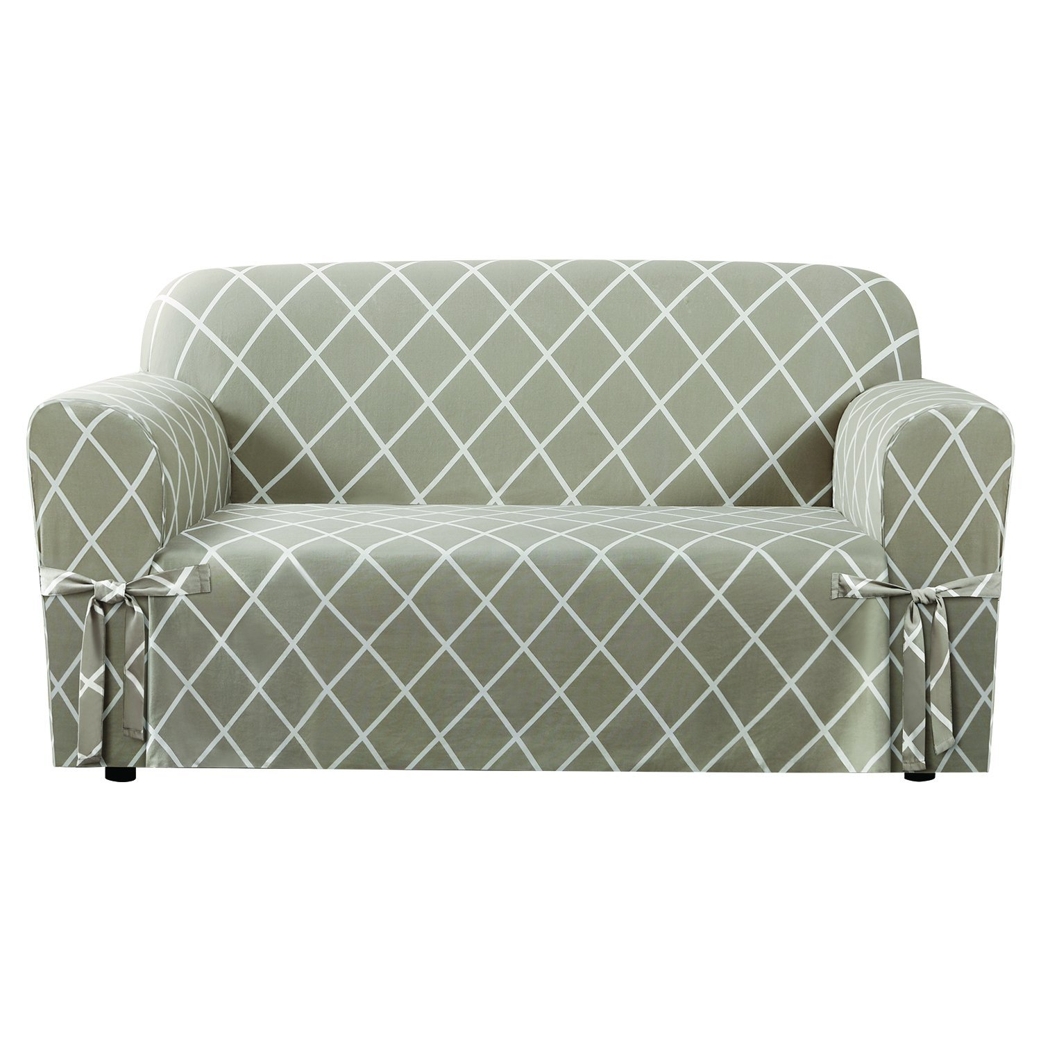 pier nyle putty tan loveseat shop imports