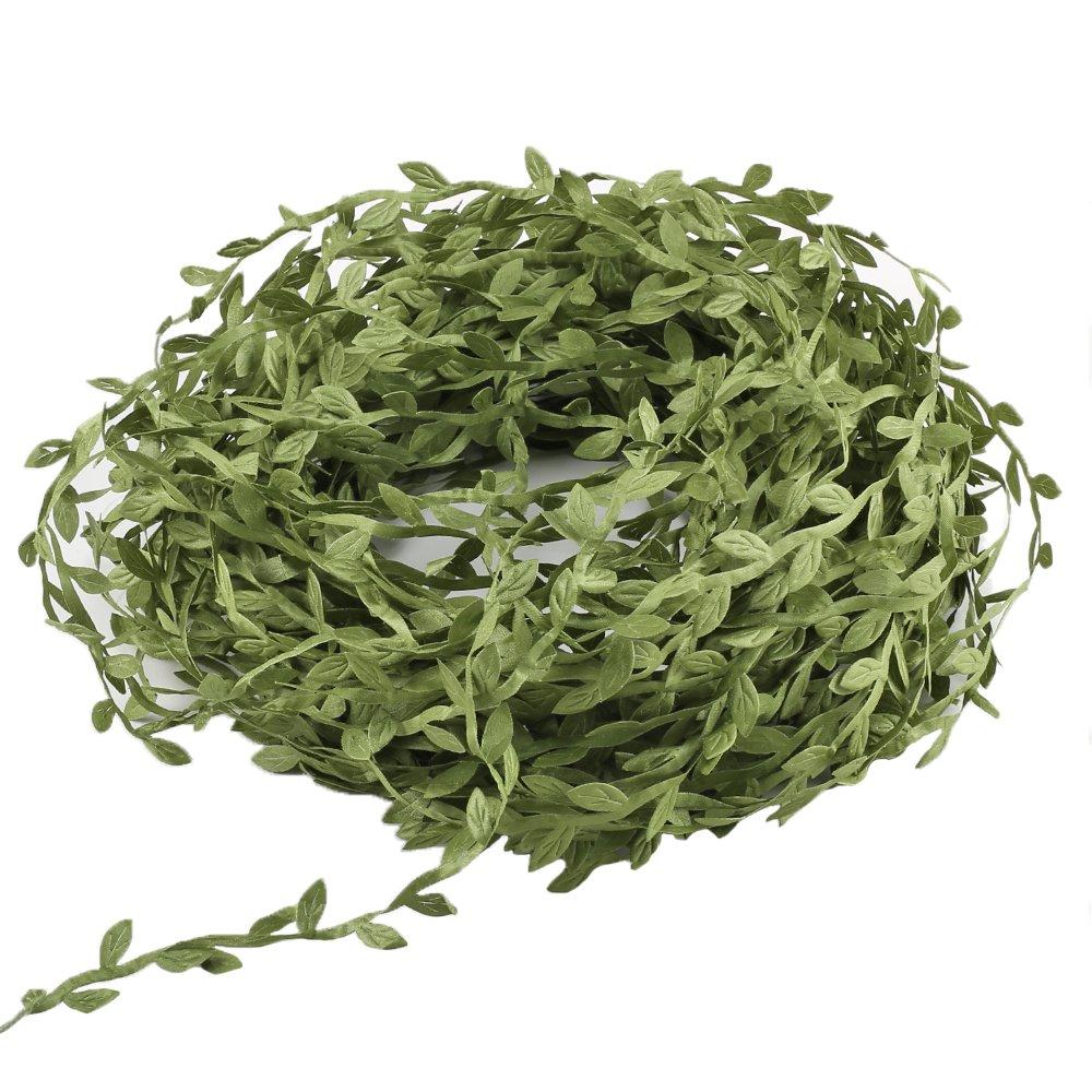 LULUNA 40m vides plantas artificiales cinta de hoja verde plantas de seda simulación guirnaldas DIY para