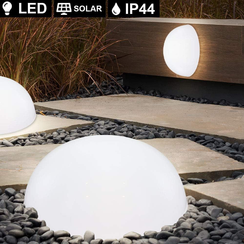 4x LED Außen Solar Steck Leuchten Feuer Effekt Garten Kugel Lampen Dekoration