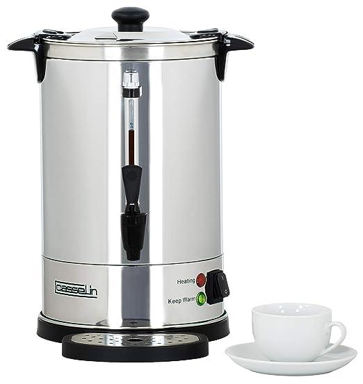 Casselin CPC48 cafetera eléctrica - calentadores de agua (Negro, Acero inoxidable, Acero inoxidable)