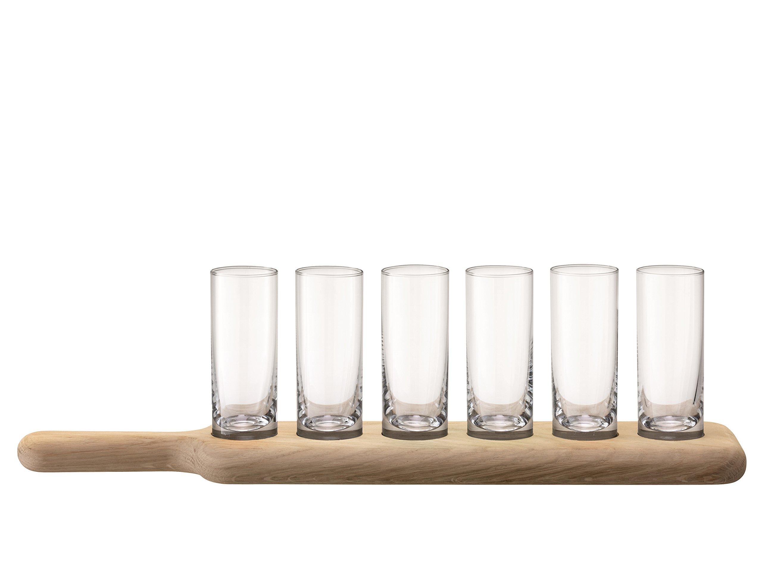 LSA International Shot Set & Oak Paddle, 15.75'', Clear