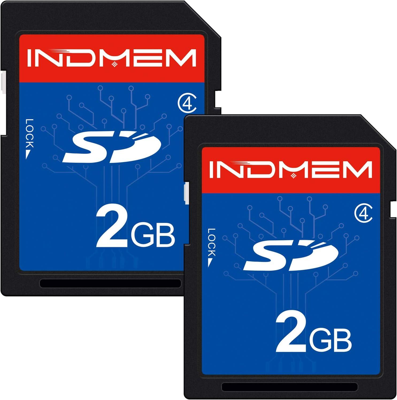2 Pack SD Card 2GB Class 4 Flash Memory Card 2G SLC Stanard Secure Digital Cards (IN2GBC4SD2P)