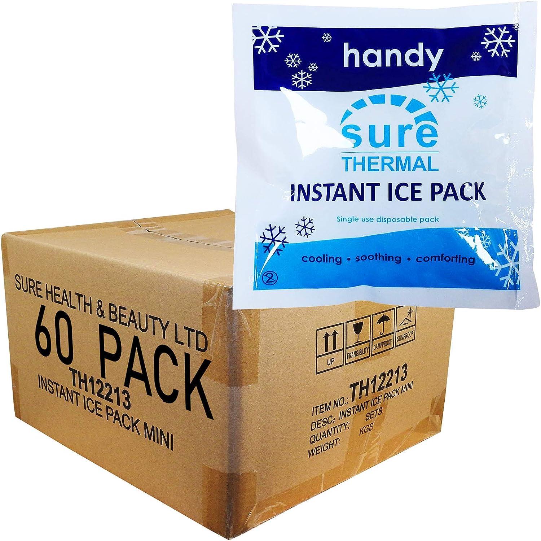 CMS Mini Ice Pack – 60 x Instant Sports lesión Freeze frío Cool ...
