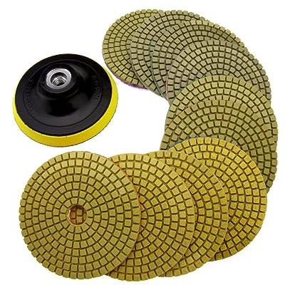 SING F LTD 11pcs Diamond Polishing Pads Grinding Disc: Automotive