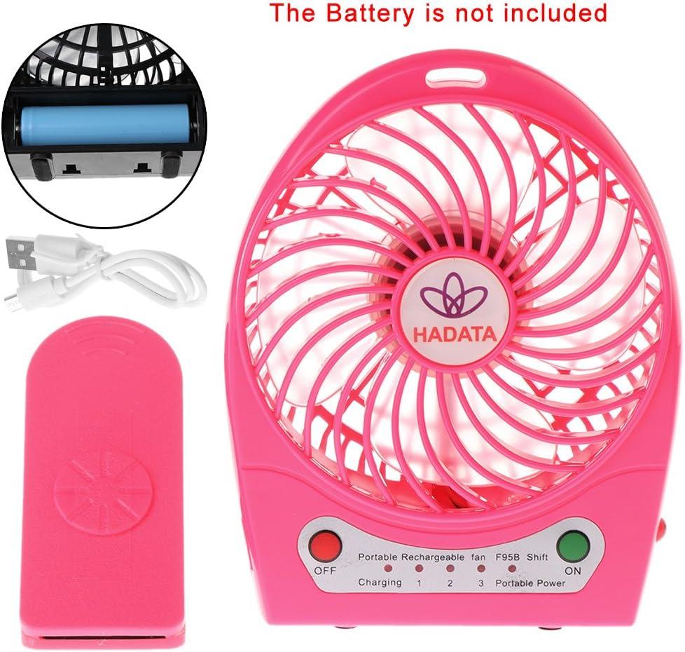 Riskt 9W Portable Outdoor LED Light Air Cooler Mini Desk USB Fan Without 18650 Battery Black
