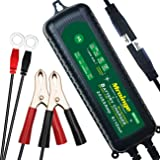 Mroinge MBC055 6V/12V 5.5A Smart Vehicle Battery Charger Maintainer for Cars Motorcycles RVs TVs Boat for Normal Lead Acid GEL AGM SEALED WET or 12V-Lithium(LiFePO4) Batteries, With IP65 Waterproof