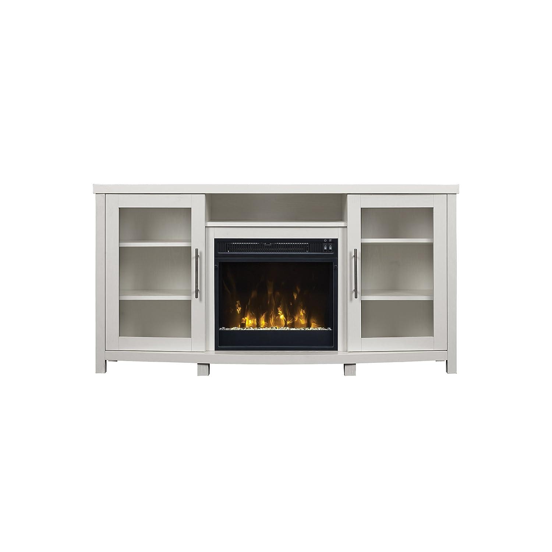 amazon com pamari 299689 milena tv stand with electric fireplace