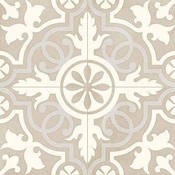 Casa Moro Mediterrane Keramikfliesen Sofia 20x20 cm 1 qm aus Feinsteinzeug in Zementoptik FL7017 Orientalische Bodenfliesen /& Wandfliesen f/ür sch/öne K/üche Flur Badezimmer