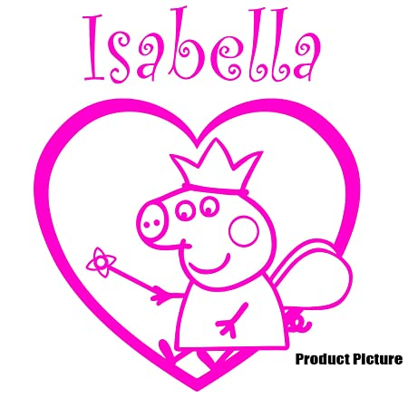 Peppa Pig Princess, Frames, Heart with your Chosen name 52 cm x 60 ...