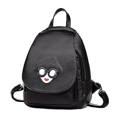 c57b4723cdf3 Amazon.com: Coolives Cute Leather Mini Black Backpack Fashion Best ...