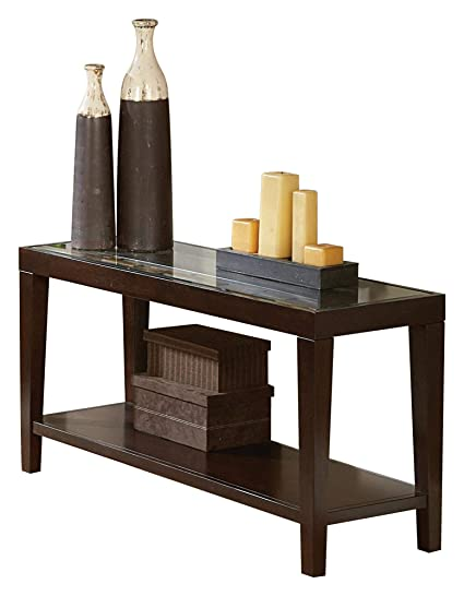Amazon.com: Valencia Sofa Table with Glass Insert in ...