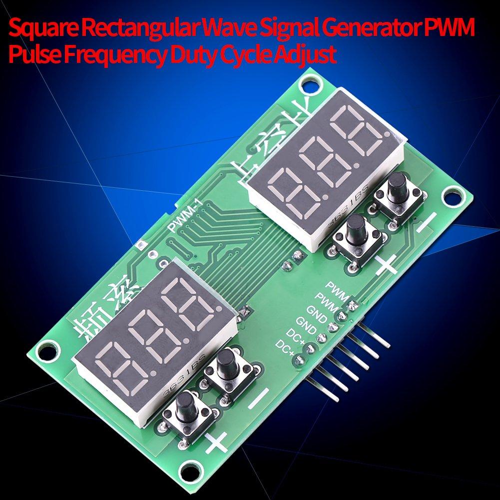 G/én/érateur de Fr/équence PWM Pulse 6Hz-100KHz G/én/érateur Num/érique de Signal dImpulsion dOnde Rectangulaire Cycle de Fonctionnement de Fr/équence PWM R/églable pas /à pas 1-99/%