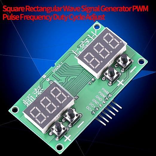 Generador de Señal,PWM 1-99% Generador de señal cuadrado de ...
