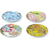 Lilly Pulitzer for Target Porcelain Plates with 18kt Gold Rim - Set of 4