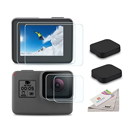2c44ddc47da3 [6pcs] Deyard Screen Protector for GoPro Hero 7(Only Black)/HD (2018)/Hero  5/Hero 6, Ultra Clear Tempered Glass Screen Protector Lens Protector Lens  ...