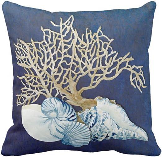 Ocean Decorative Beach Seaside throw Coastal Pillowcase Pillow Cover Decor Home