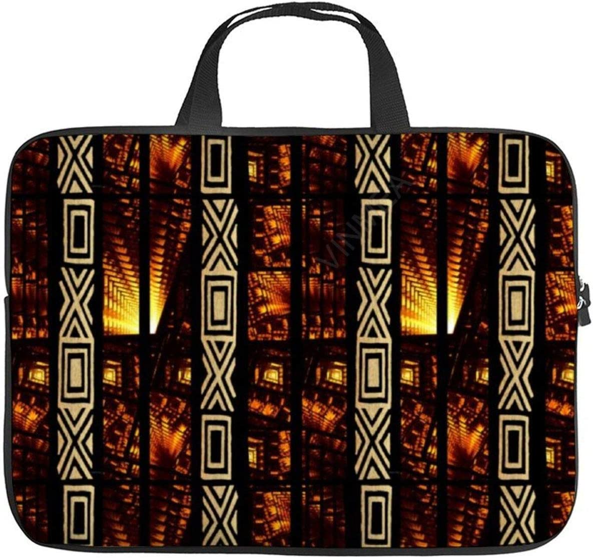 15 Inch Laptop Bag with Handle African Tribal Tapestry Motif Laptop Briefcase for Office School Men & Women Teens