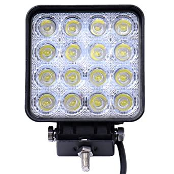 Viugreum led 12-24V luz de trabajo, IP67 iluminación al aire libre, 48W