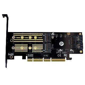 Adaptador 3 en 1 M.2 y mSATA SSD tarjeta adaptador para M.2 NVME a ...