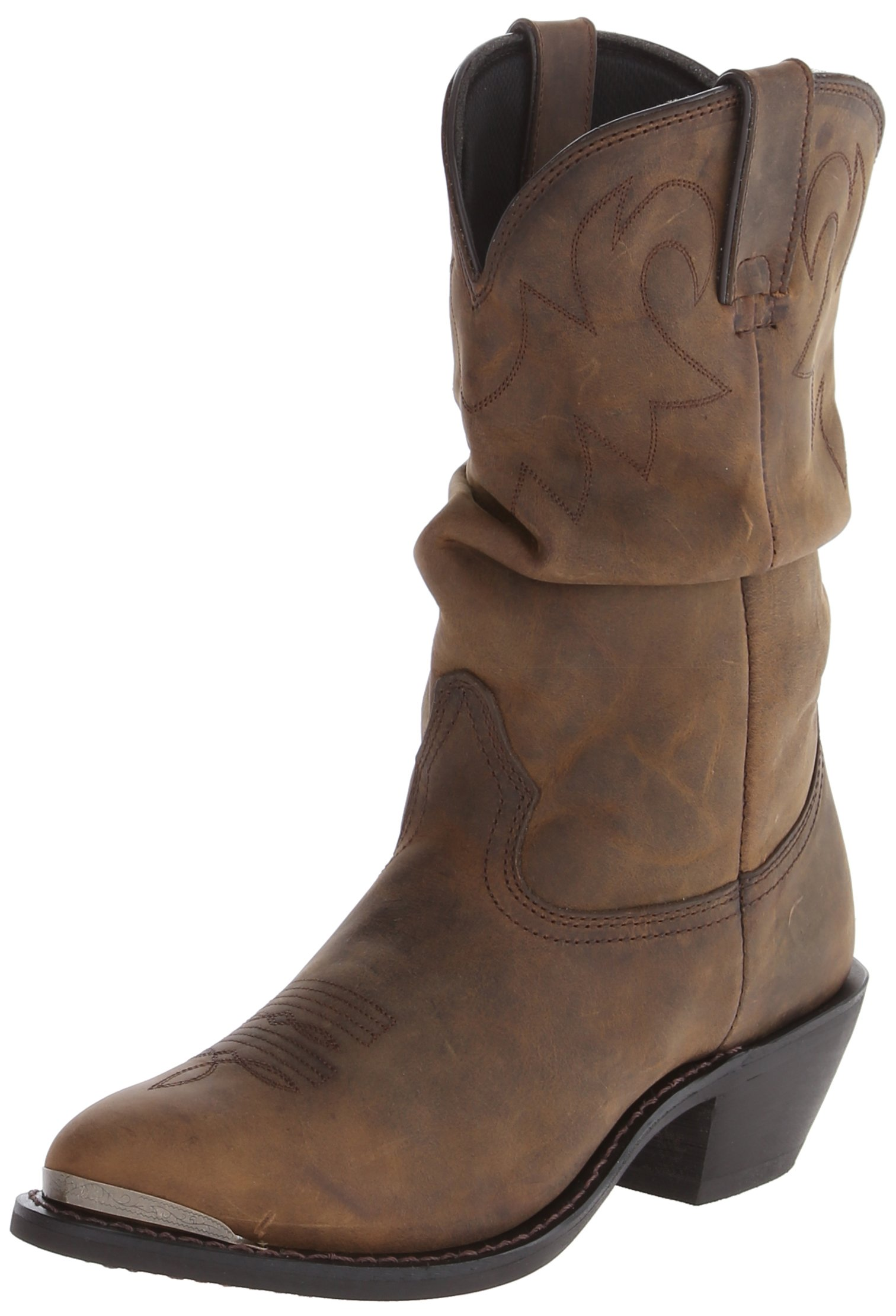 Durango Women's RD542 Slouch 11'' Western Boot,Distressed Tan,8 M US by Durango