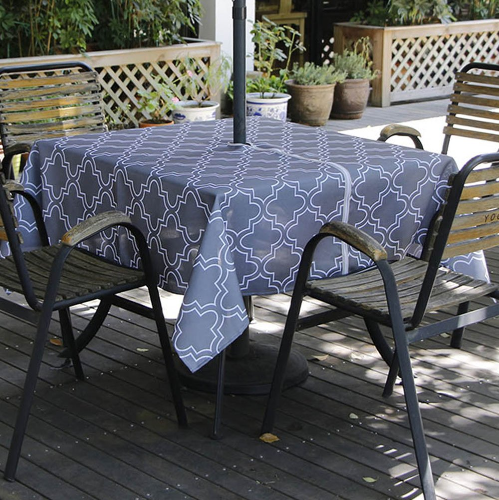 Patio Table Tablecloth With Umbrella Hole