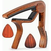 Plettri per chitarra capotasto per chitarra acustica, ukulele, chitarra, basso elettrico con legno color Moreyes, Mirabow color