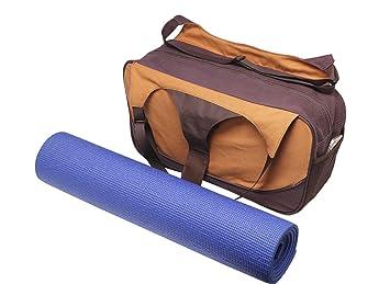 Bolsa de yoga «Vimalaa» de #DoYourYoga fabricada con lona (lienzo de algodón), con un laborioso acabado. ¡Para esterillas de yoga EXTRAGRANDES y SUPERANCHAS! melocotón