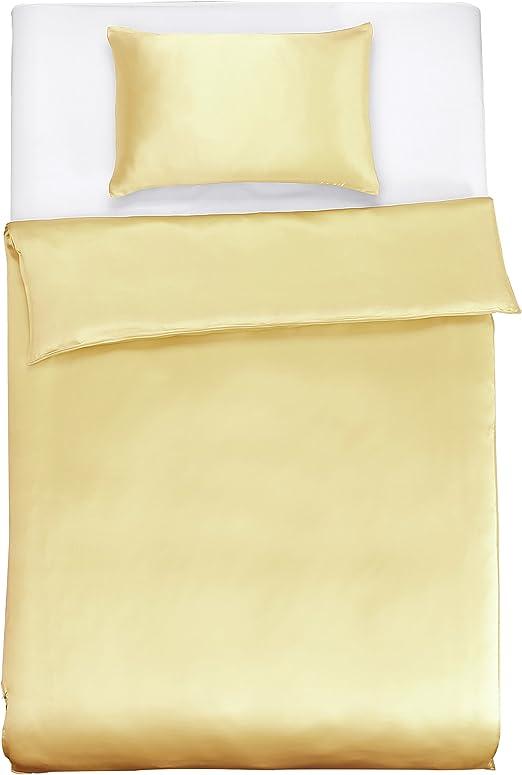 1A Seidenbettwäsche Kopfkissenbezug aus Seide SATIN 40x80cm natur weiß