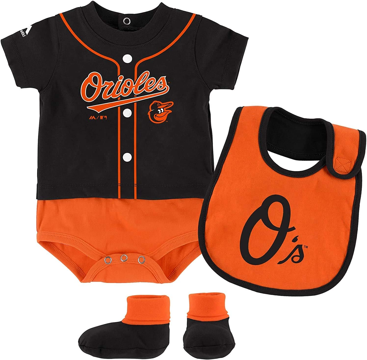 and Bootie Set Outerstuff MLB Newborn Infants Tiny Player Creeper Bib