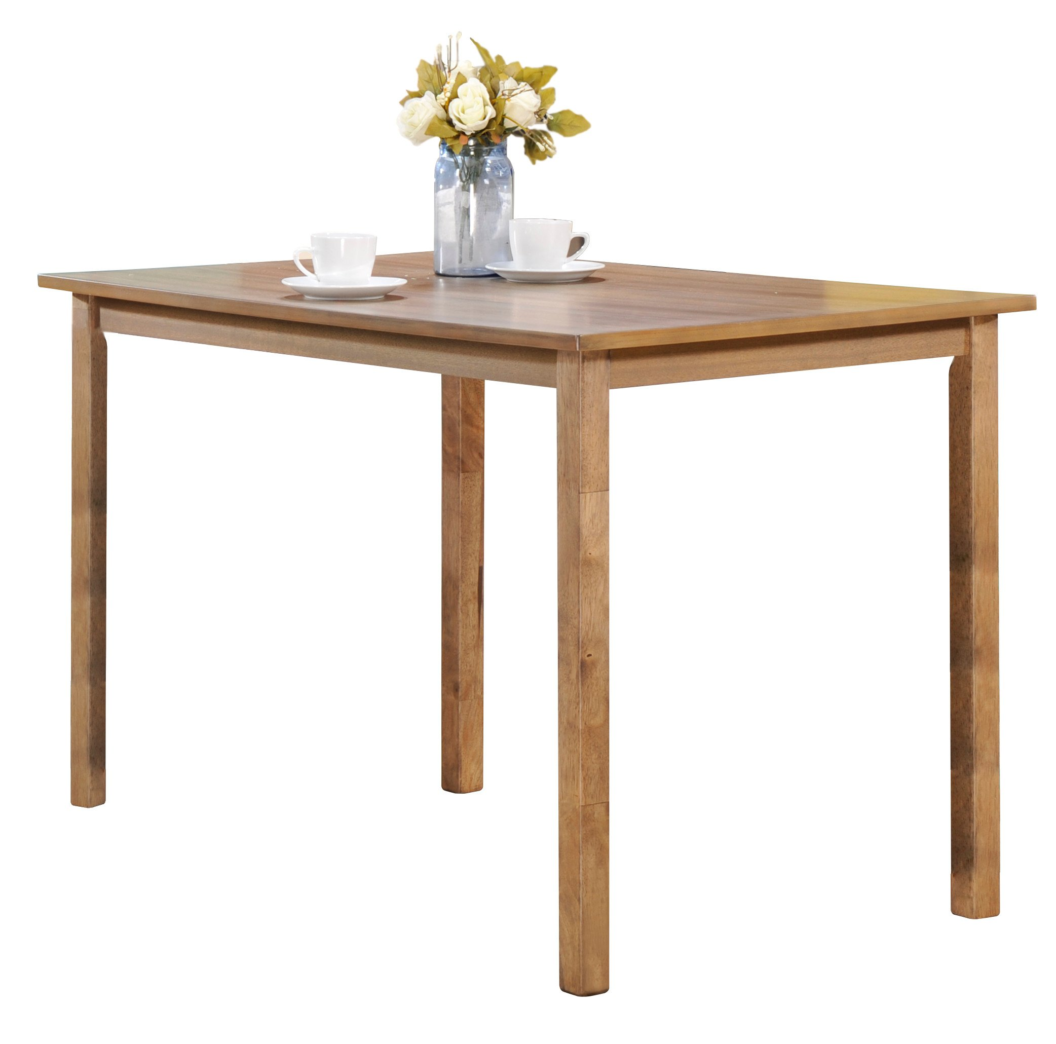 Kings Brand Furniture Sapele Natural Finish Wood Dining Room Kitchen Table