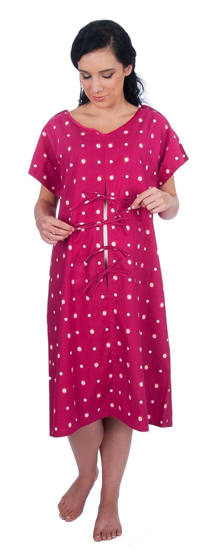 My Bella Mama Designer Hospital Delivery Gown: easy epidural, fetal ...