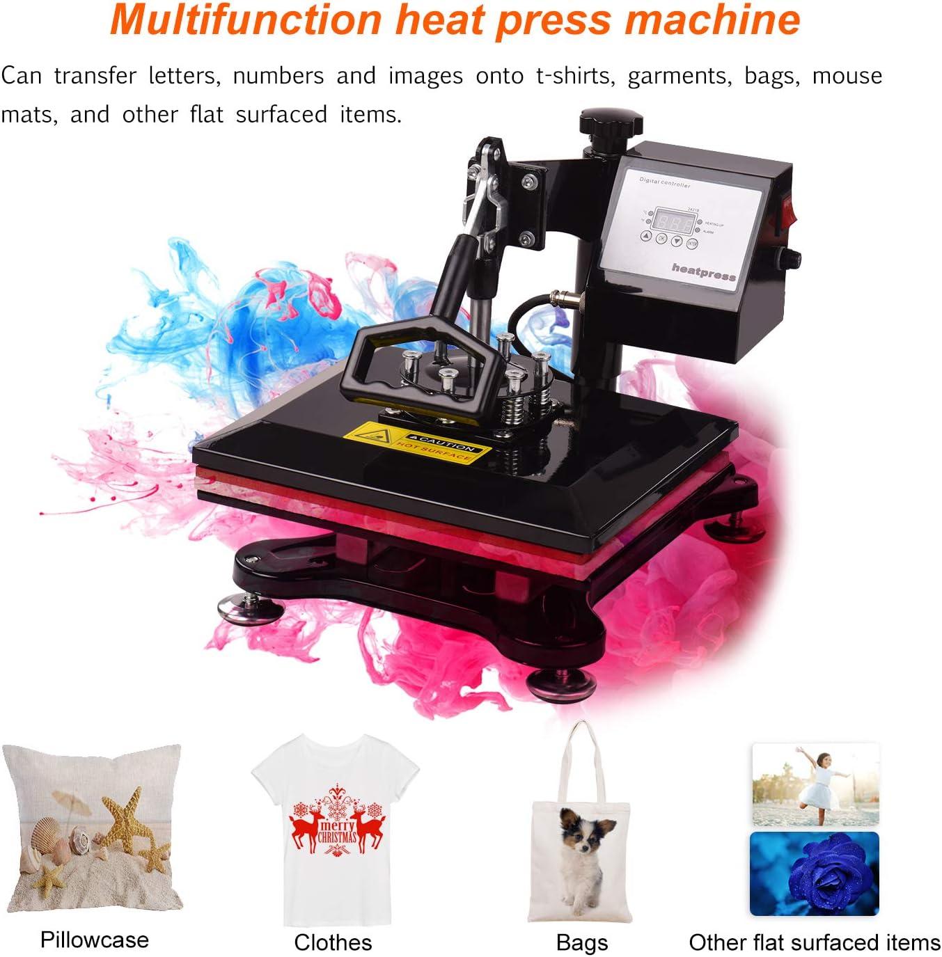 Leader-cloth Aibecy 5 en 1 Combo Heat Press Machine Multifunción ...
