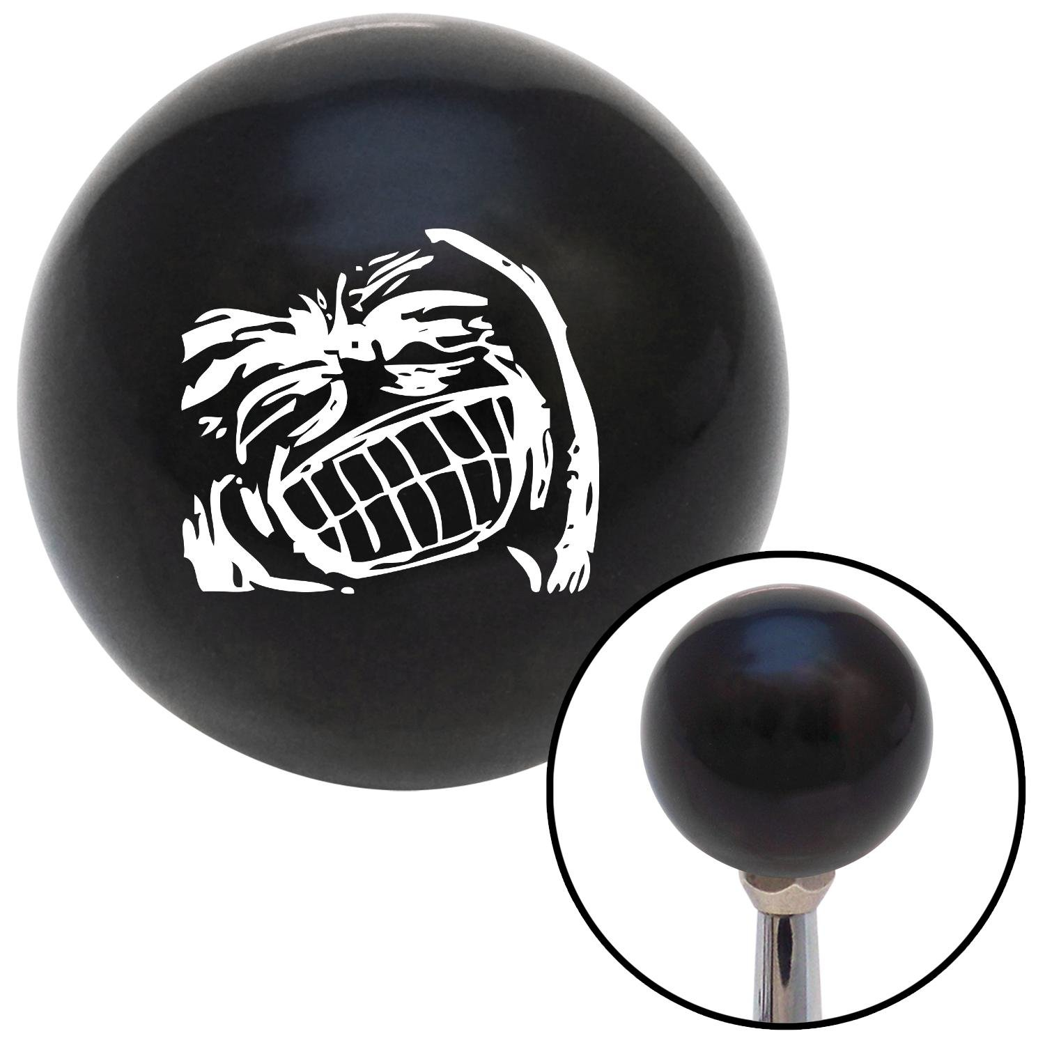 White Big Grin Meme American Shifter 105870 Black Shift Knob with M16 x 1.5 Insert