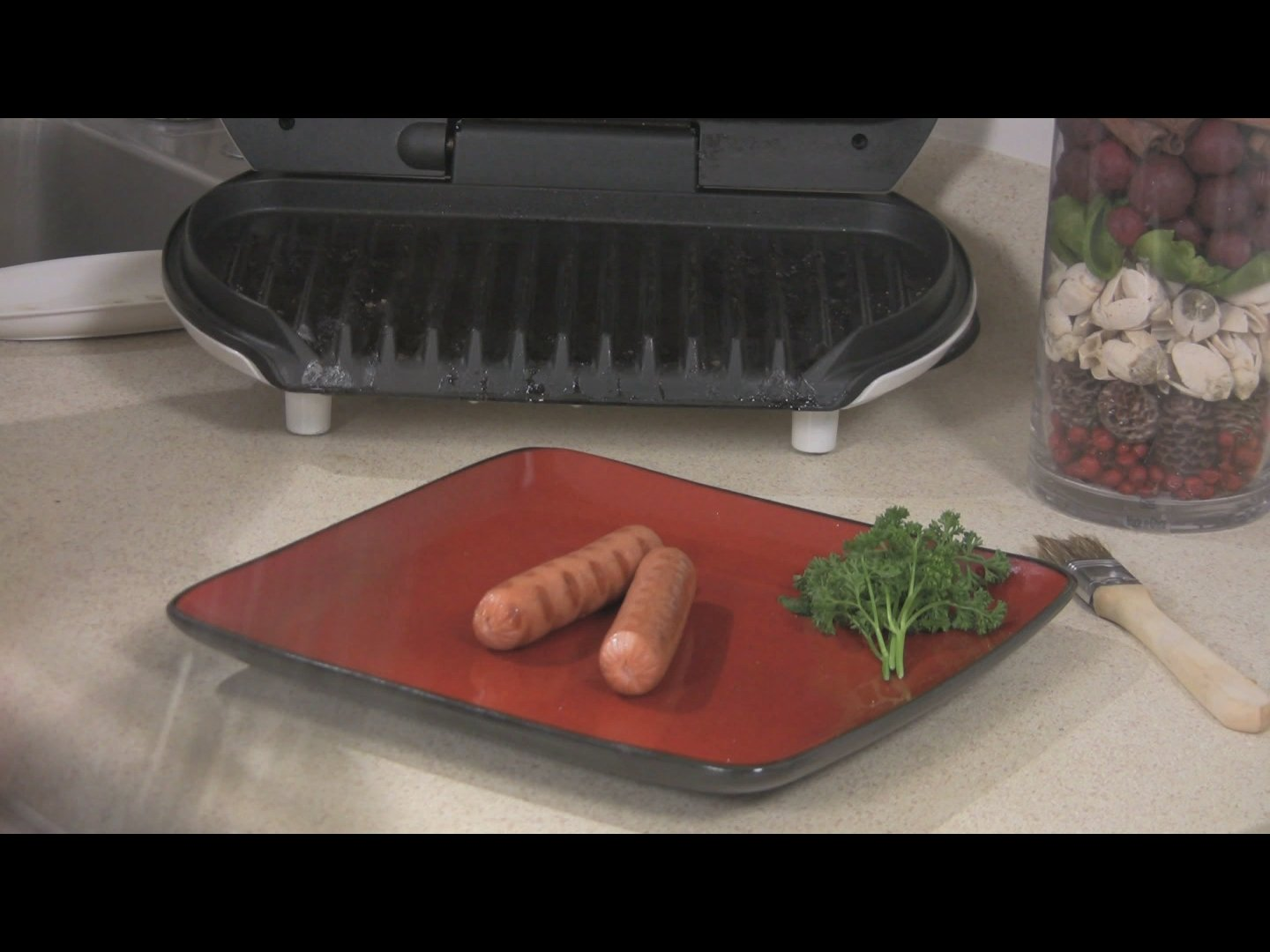 Cooking Hot Dogs on the George Foreman Grill