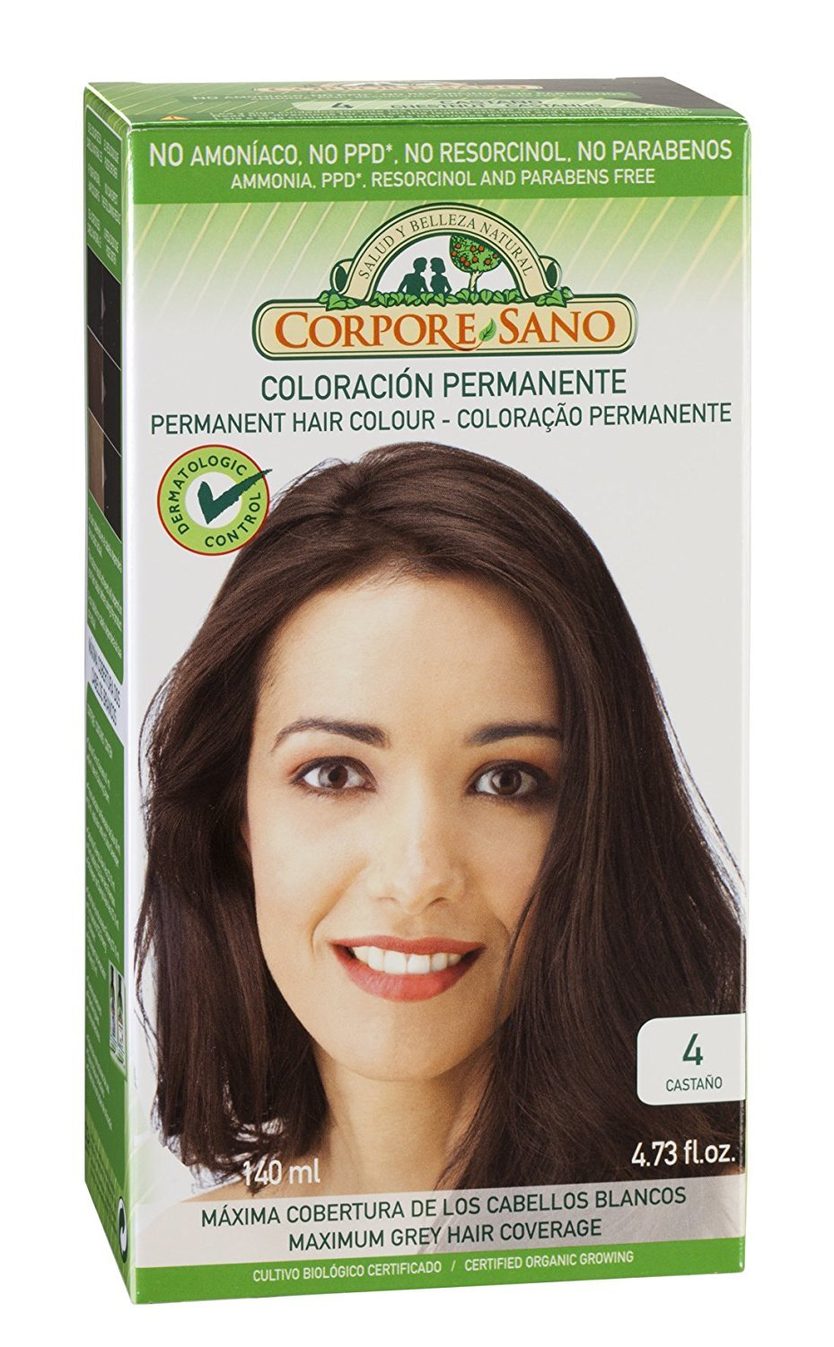 Corpore Sano Permanent Hair Colour-Does Not Contain: PPD, AMMONIA, RESORCINOL, PARABENS.Same as Naturvital (~ 4 Chestnut)