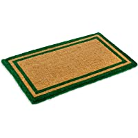 Natural Coco Coir Outdoor Doormats with Green Border Keep Your House/Office Clean - Welcome Guests with Outdoor Heavy…